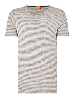 Typicco regular fit space dye stripe t shirt