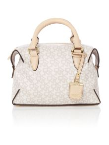 DKNY Coated logo neutral small satchel bag