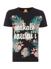 Hugo Boss Tomsin 6 regular fit hawaiian print t shirt