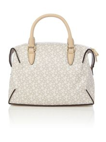DKNY Coated logo neutral medium satchel bag
