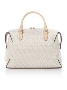 DKNY Coated logo neutral large satchel bag