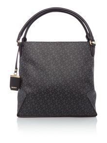 DKNY Coated logo black hobo bag