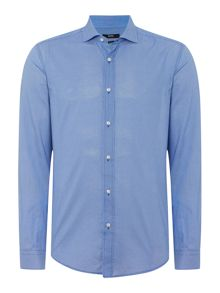 Hugo Boss Ridley Slim Fit Textured Spot Shirt