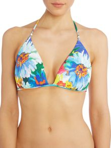 Polo Ralph Lauren Daisy floral tall moulded triangle bikini top