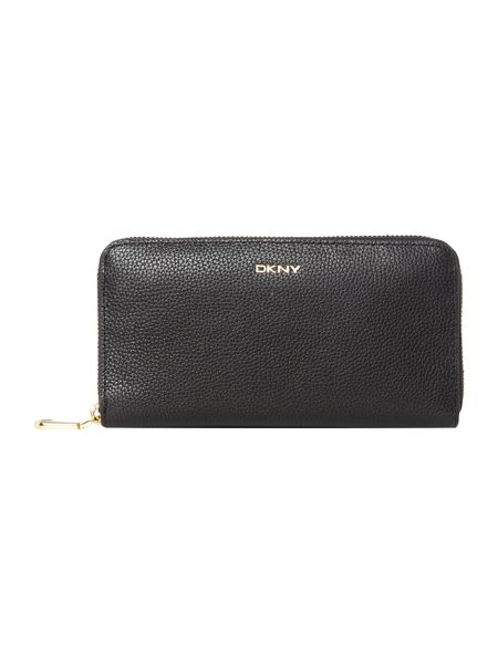 DKNY Chelsea black large zip around purse