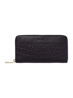 DKNY Gramercy croc black large zip around purse