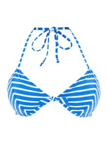 Polo Ralph Lauren Bengal stripes triangle bikini top