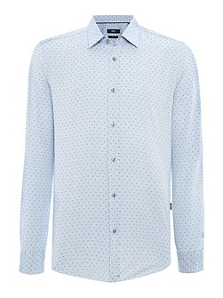 Roy Slim Fit Micro Geo Shirt