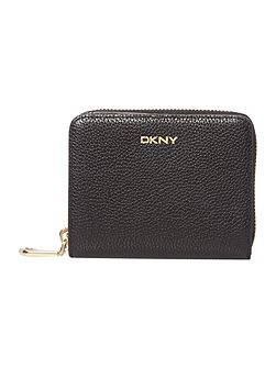 Chelsea black small zip around purse