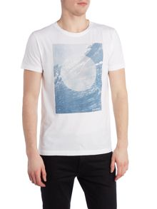 Hugo Boss Tammaro 1 regular fit wave graphic t shirt