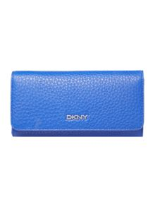 DKNY Tribeca blue large flap over purse