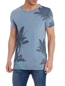 Hugo Boss Tammaro 2 regular fit palm print t shirt