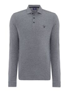 Long Sleeve Oxford Pique Polo