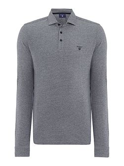 Men's Gant Long Sleeve Oxford Pique Polo