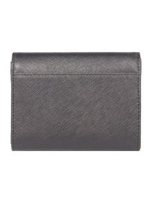DKNY Saffiano black small flap over purse