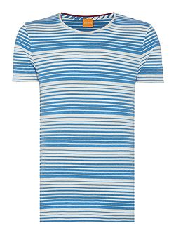 Tomeko regular fit graduated stripe t shirt