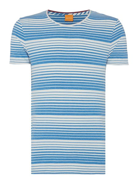 Hugo Boss Tomeko regular fit graduated stripe t shirt