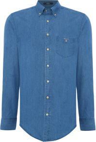 Indigo Denim Long Sleeve Shirt
