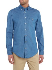 Gant Indigo Denim Long Sleeve Shirt