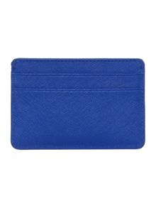 DKNY Saffiano blue card holder
