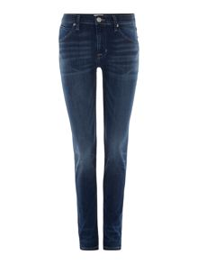 Hudson Jeans Lilly mid rise ankle skinny jean 29 indigo aster