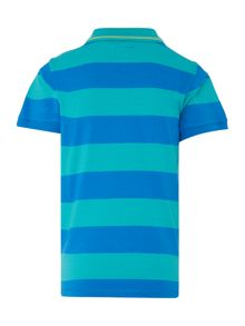 Boys Short Sleeve Block Stripe Polo