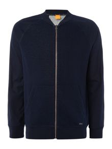 Hugo Boss Zaku baseball collar zip through sweatshirt