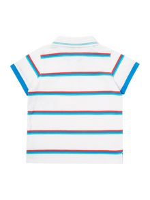 Armani Junior Boys Shirt Sleeve Contrast Stripe Polo
