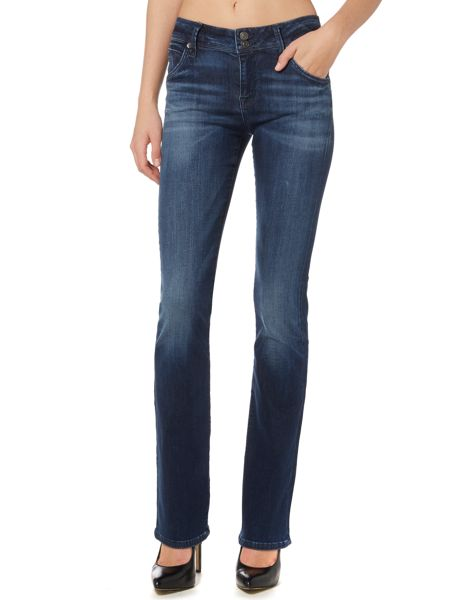 Hudson Jeans Beth midrise baby boot jean in electric clover