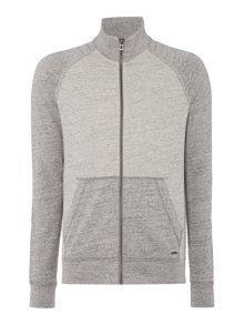 Hugo Boss Zoover funnel neck zip through sweatshirt