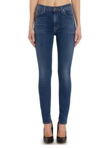 Barbara high waist super skinny jean in moonlet