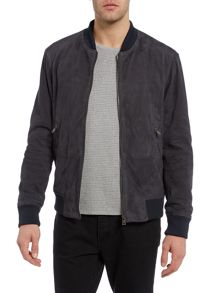 Hugo Boss Moriso Perferated Leather Bomber Jacket