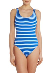 Polo Ralph Lauren Bengal stripes lace back swimsuit
