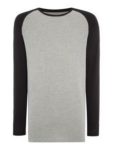 Jack & Jones Long Sleeve Raglan Crew Neck T-shirt