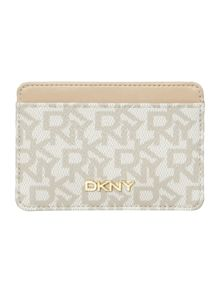 DKNY Coated logo neutral card holder