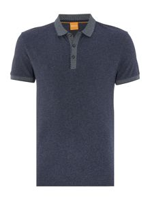 Hugo Boss Papyri fashion fit contrast hem polo shirt