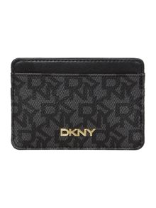 DKNY Coated logo black card holder