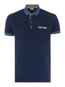 Patches regular fit pocket detail polo shirt