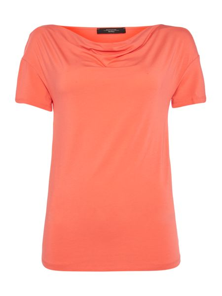 Max Mara Multic short sleeve cowl neck top