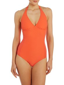 Dickins & Jones Waffle Texture Built Up Triangle Swimsuit