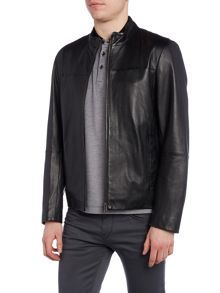 Hugo Boss Gameo Zip Up Leather Jacket