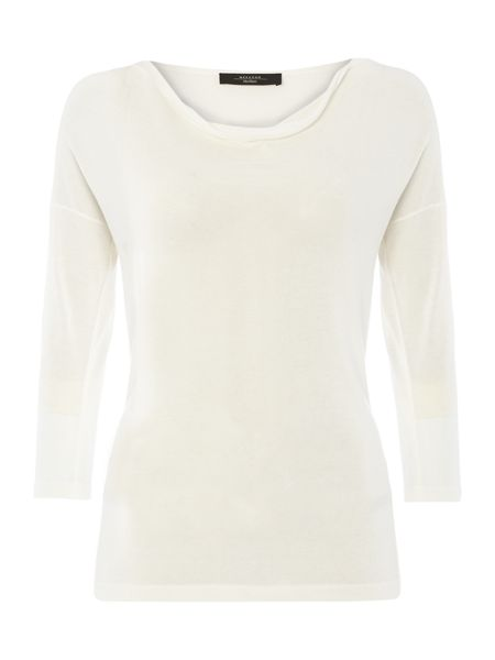 Max Mara Vento three quarter sleeve cowl neck top