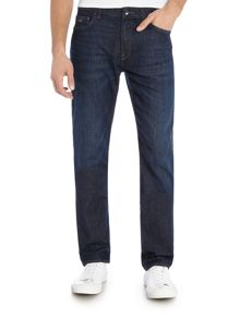 Hugo Boss Maine Regular Fit Dark Wash Stretch Jeans