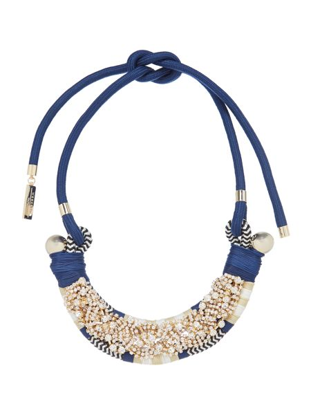 Max Mara Naiadi embellished necklace with tie