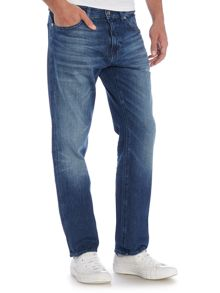 Hugo Boss Maine Regular Fit Mid Wash Stretch Jeans