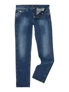 Hugo Boss Delaware Slim Fit Mid Distressed Stretch Jeans