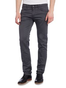 Hugo Boss Charlston Slim Fit Solid Charcoal Jeans