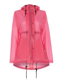 Hunter Matte vinyl hooded smock coat