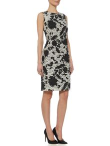 Linea Monochrome floral lace dress