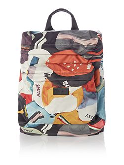 Cycle caps print backpack
